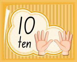 Han gestur nummer tien vector
