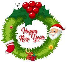 Kerstkrans voor decoratie vector