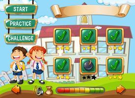 Student op school game sjabloon