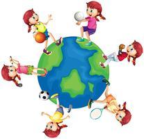 Verschillende sporten over de hele wereld vector