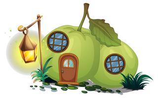 Guava-huis met lantaarn vector