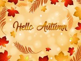 Herfst blad achtergrond sjabloon vector