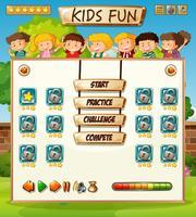Kinderen op spelsjabloon
