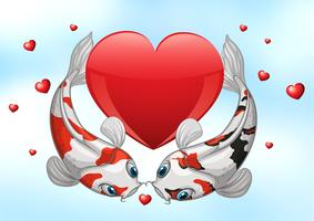 valentijn koi vector