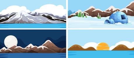 Set van natuurlandschap vector