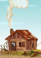 Een oud houten huis