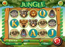 Computerspel sjabloon met jungle thema