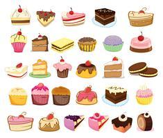 Taarten en desserts vector