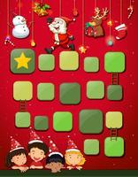 Spelmalplaatje met kinderen en Kerstmis vector