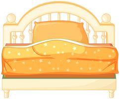 Een kingsize bed vector