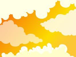 Mooie bewolkte gouden hemelachtergrond