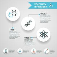 Chemie Infographics Set vector