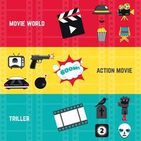 Filmbannerset vector