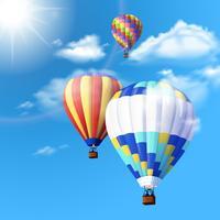 Luchtballon achtergrond