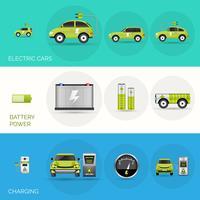 Banners voor elektrische auto's vector