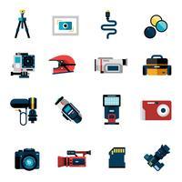 Camerapictogrammen instellen vector