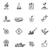 GMO-pictogrammen instellen vector