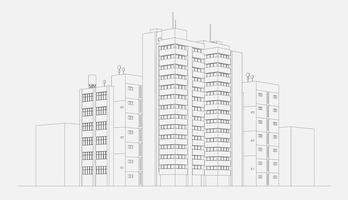 Stadsarchitectuur illustratie