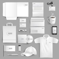 Briefpapier Set Realistisch vector