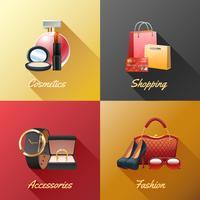 Vrouwen winkelen ontwerpconcept