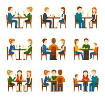 Mensen In Restaurant Set