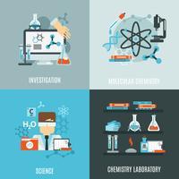 Chemie Flat Set vector