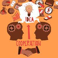 Zakelijke samenwerking illustratie vector