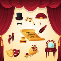 Theaterelementen instellen