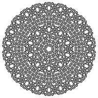 Monochromatische etnische naadloze texturen. Ronde sier vectorvorm geïsoleerd op wit. Oosterse arabesque patroonachtergrond. Vector illustratie