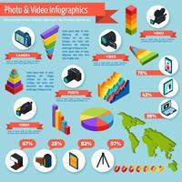 Foto- en video-infographics vector