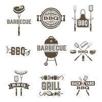 Barbecue en grill etiketten vector