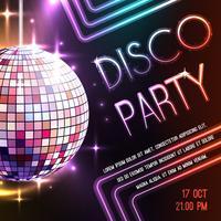 Poster van de disco vector