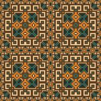 Etnische naadloze patroonachtergrond vector