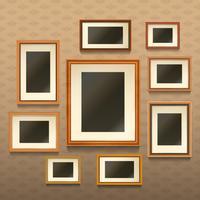 Fotolijsten op de muur