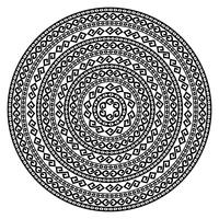 Ronde sier vectorvorm geïsoleerd op wit.