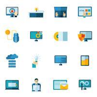 Programma ontwikkeling Icons Set vector
