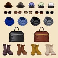 Hipster accessoires man vector