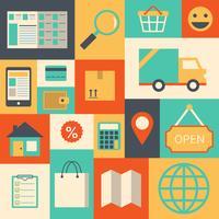 Ontwerpelementen voor online supermarkt vector