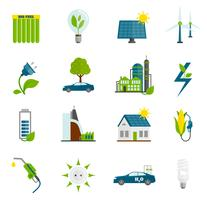 eco energie plat pictogrammen