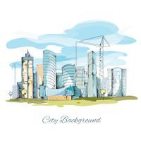 Schets stad achtergrond vector