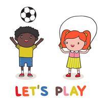 kinderen spelen