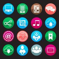 Knoppen voor sociale media