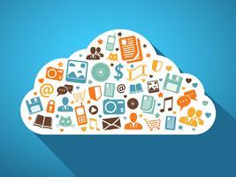 Multimedia en mobiele apps in de cloud vector