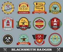 smid badges instellen vector