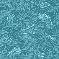 Aziatisch patroon met draalachtergrond vector