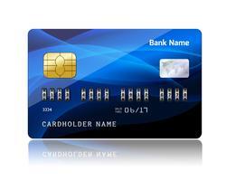 Creditcard met beveiligingscombinatiecode vector