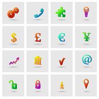 Zakelijke pictogrammen instellen vector