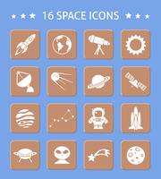 Ruimte en astronomie knoppen