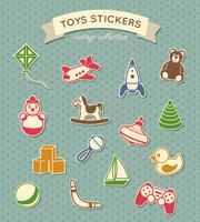 Speelgoed stickers vintage collectie vector