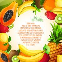 Exotisch fruitkader vector